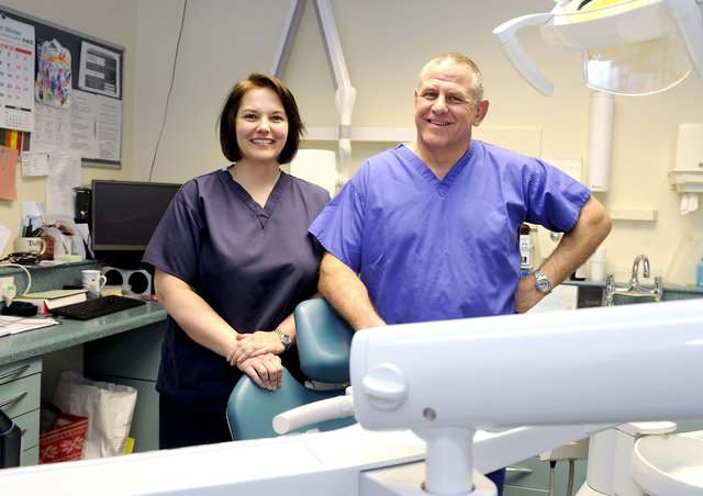 Dr Gillian Lennox of Forth Valley Smile Design is pictured alongside practice partner Donald McNicol. Picture: Michael Gillen.