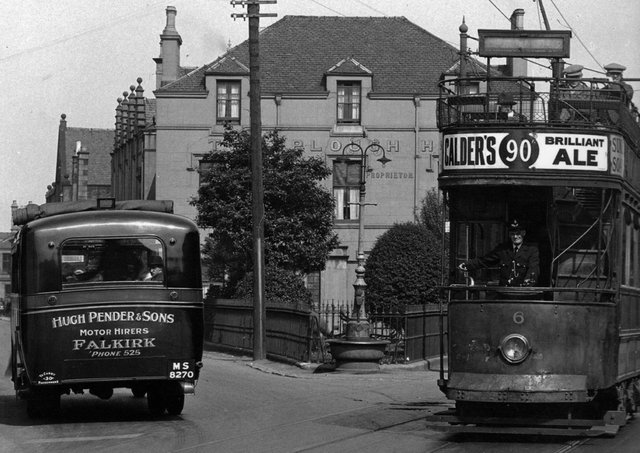 The buses were taking over and the days of the tram were numbered when this picture was taken