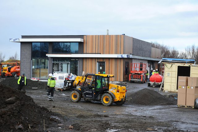 The Camelon McDonalds restaurant began construction last year and is now ready for business