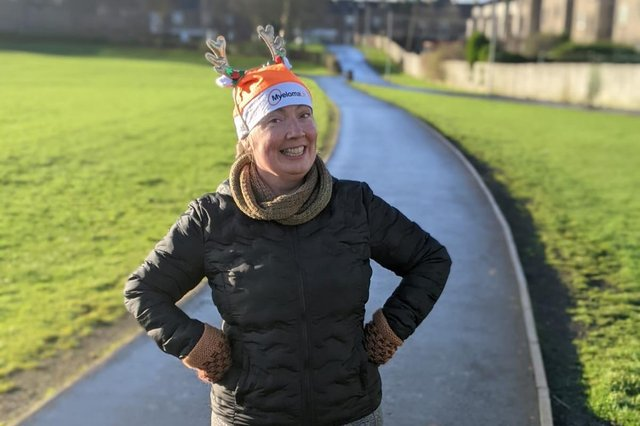Falkirk's Sara Barron has been selected to help lead a national fundraising challenge for blood cancer charity Myeloma UK