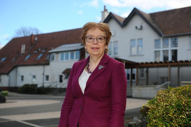 Strathcarron Hospice chief executive Irene McKie and her colleagues are enormously grateful for the support the facility has received as it approaches its 40th anniversary. Picture: Michael Gillen.