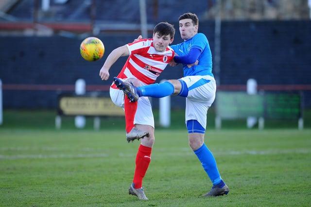Bo'ness United in action against Bonnyrigg Rose
