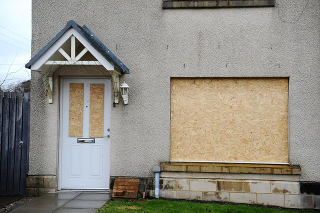 Police attended at the address in Mayfield Drive, Longcroft at the weekend