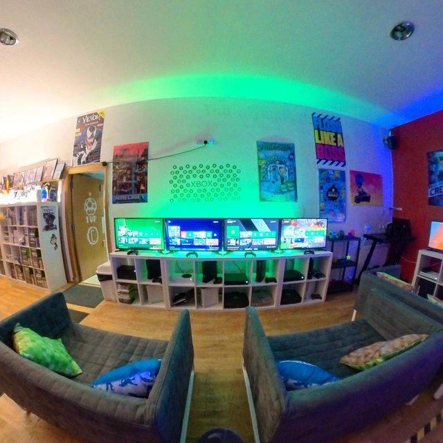 There is plenty of space for socially distanced gaming in the new Geek Guys's arcade