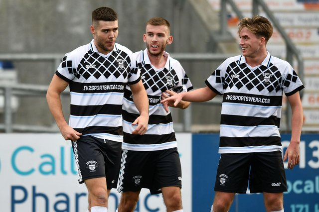 East Stirlingshire defender Sean Brown (left) has moved up two divisions to join League 1 East Fife on loan until the end of the season or the Lowland League resumes play