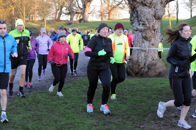 The Falkirk parkrun was a well-attended event before coronavirus hit the country. Picture: Lisa McPhillips.