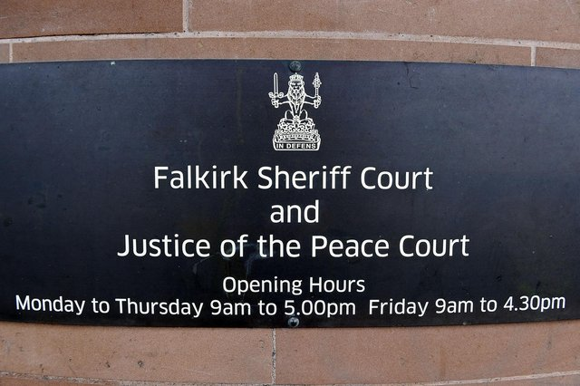 Andrew Fotheringham, of Banknock, appeared at Falkirk Sheriff Court on Thursday. Picture: Michael Gillen.