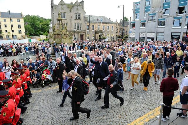Picture Michael Gillen.  Linlithgow Marches 2019.