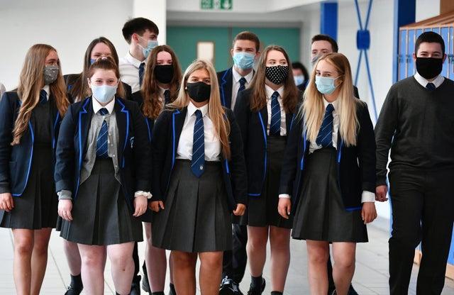 Schools in Scotland begin full-time classroom return.