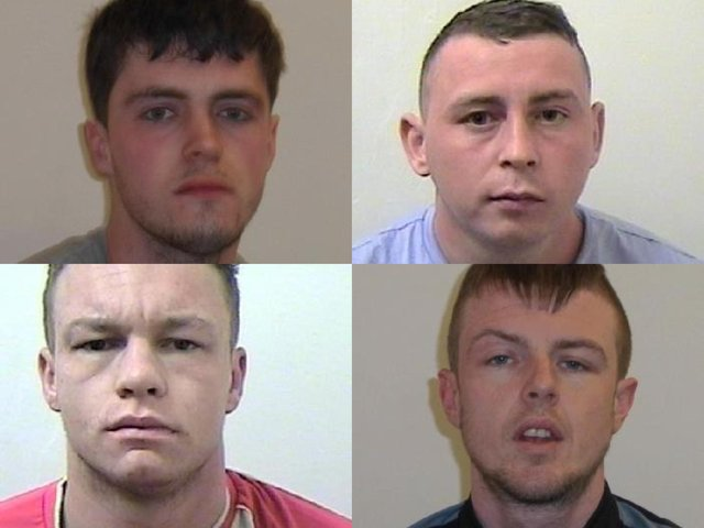 The four men were jailed for a combined total of 13 years for drugs offences