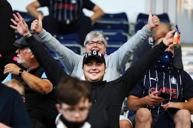 494 days since Falkirk fans were last at a game a crowd of 686 watched the Bairns beat Albion Rovers 5-1 in the Premier Sports Cup