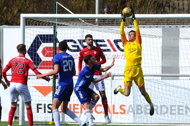 Falkirk keeper Robbie Mutch had to pick the ball out of the net twice at the Balmoral Stadium as Mitch Megginson scored a double from set plays