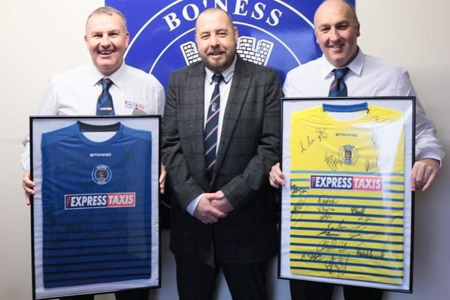 Iain Muirhead (centre) voted against the inclusion of Old Firm Colts teams in Lowland League