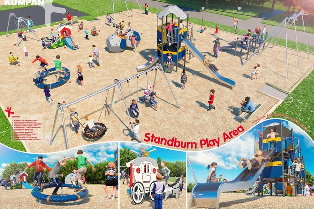 How Standburn's new play park will look. Contributed.