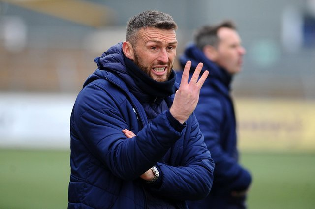 """Falkirk co-manager Lee Miller: """"It's another three points, we're not getting carried away or looking too far forward, we go again on Tuesday."""""""