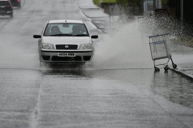 A yellow Met Office weather warning is in place