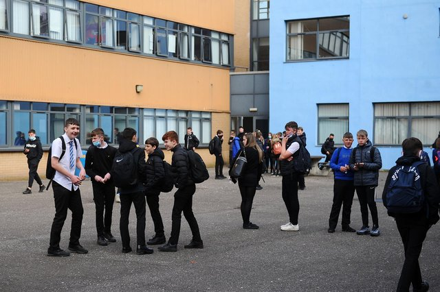 Larbert High School as all pupils return to full time learning in school from Monday (Pic: Michael Gillen)