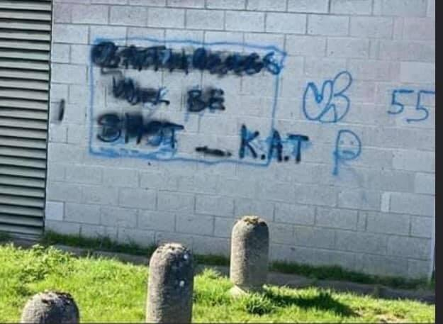 """Police are now investigating the '""""atholics will be shot"""" sectarian vandalism in Bo'ness"""