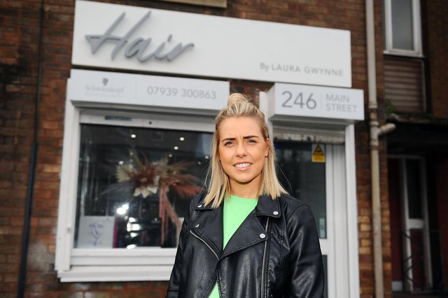 Laura Gwynne is preparing to open her own self-titled salon in Camelon. Picture: Michael Gillen.