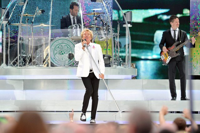 Seven years ago today, Rod Stewart played memorable gig at Falkirk Stadium. His fans lapped up a set which featured a huge number of his classic songs. (Pic: Michael Gillen)