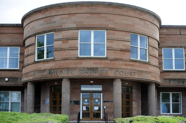 The incident happened at Falkirk Sheriff Court earlier this afternoon