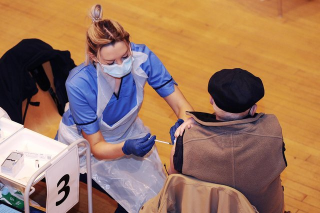 More than 150,000 people across Forth Valley havereceived a Covid vaccination. Picture: Michael Gillen.
