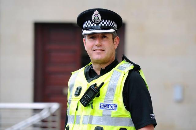New Falkirk Area Commander Craig Walker. Picture: Michael Gillen.