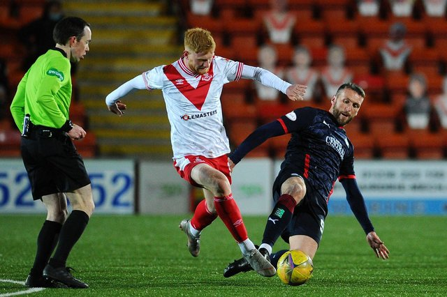 Euan O'Reilly playing with Airdrie last season