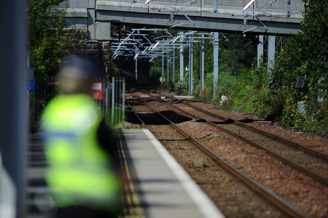 British Transport Police arrested a man and seized £80,000 of cannabis at Falkirk's Grahamston railway station