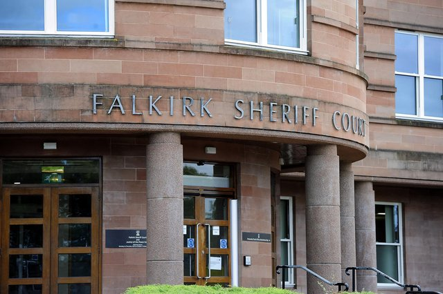 Paul McDermott, of Lionthorn, appeared from custody at Falkirk Sheriff Court. Picture: Michael Gillen.