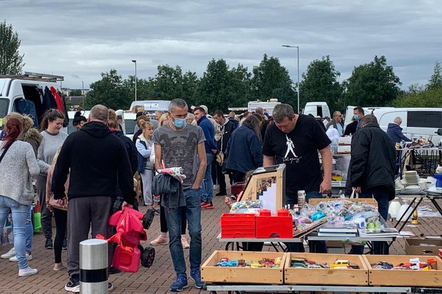 Organisers of a car boot sale at The Falkirk Stadium have rejected claims visitors and vendors failed to follow social distancing rules. Contributed.