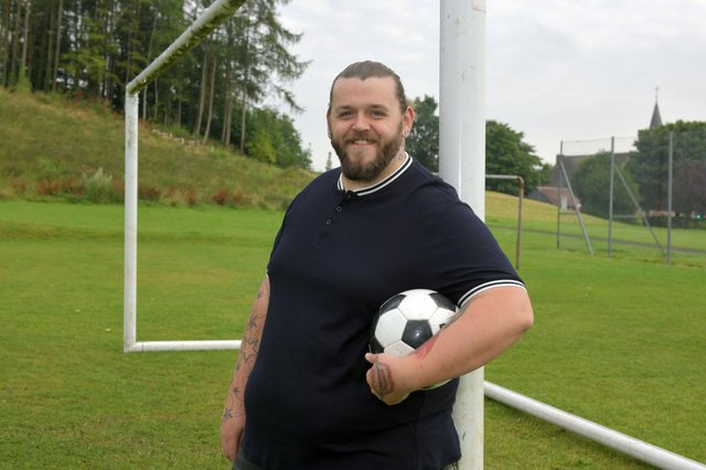 Gary Thorn, founder of Denny Warriors FC. Picture: Michael Gillen.
