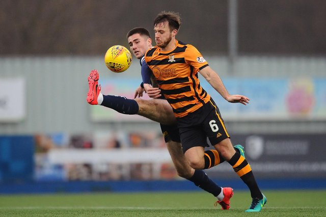 New Falkirk signing Steven Hetherington in action for old club Alloa Athleitc against the Bairns in 2019