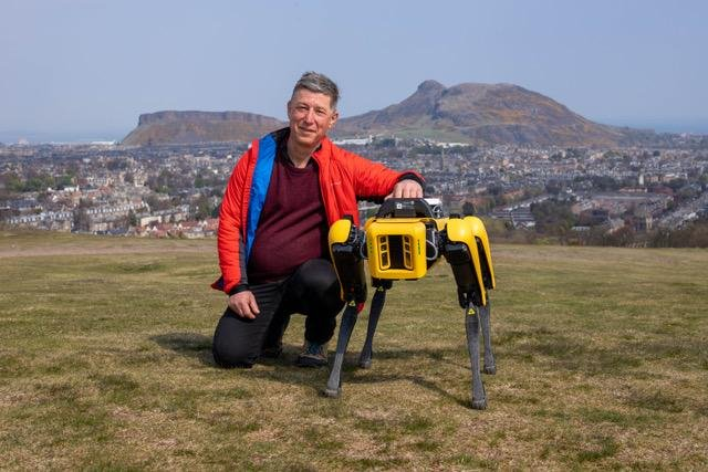 -Prof Yvan Petillot with the new robot