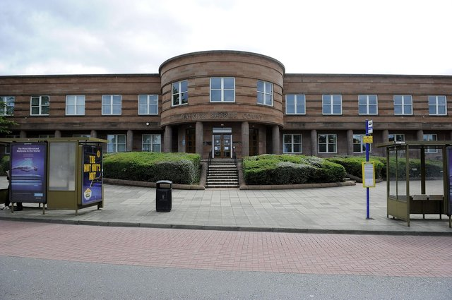 Hyland appeared at Falkirk Sheriff Court yesterday having admitted recklessly damaging property