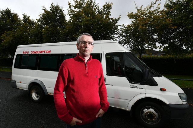 Peter Krykant runs a mobile 'safe consumption room' in Glasgow.