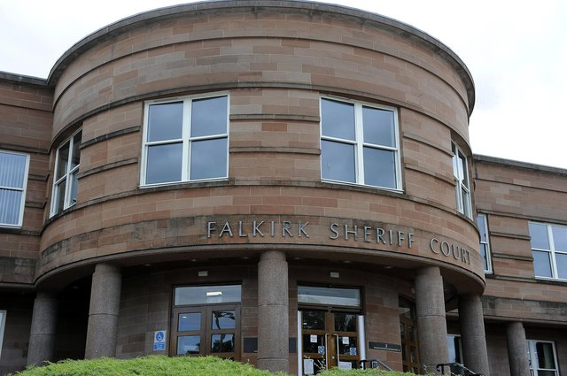 Andrew Dewar, of Grangemouth, has been ordered to reappear at Falkirk Sheriff Court. Picture: Michael Gillen.