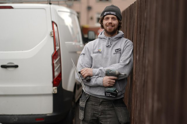 Apprentice Raymond Stirling (28) is a finalist in this year's Screwfix Trade Apprentice competition