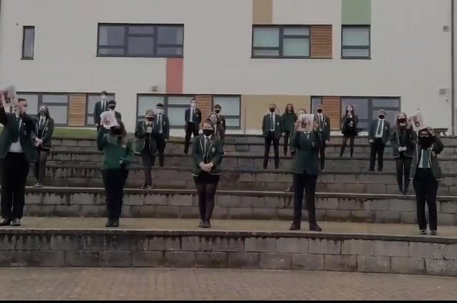 Pupils and staff at St Mungo's High School, Falkirk are rooting for alumni Craig Eddie to win The Voice. Contributed.