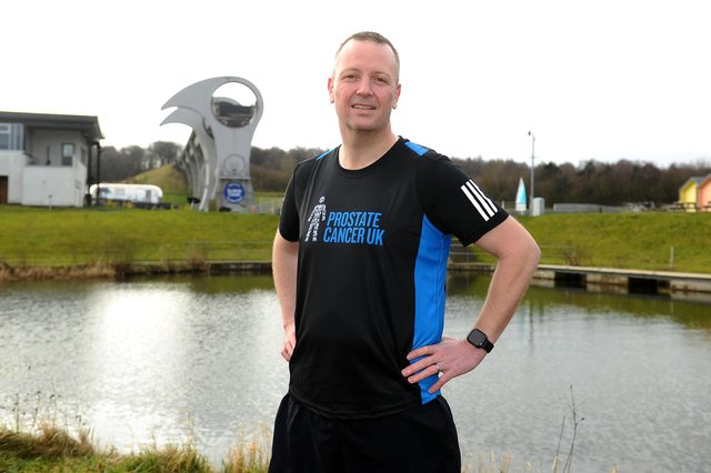 Graeme Crawford who is completing 30 half marathons in 30 days to raise funds for Prostate Cancer charity