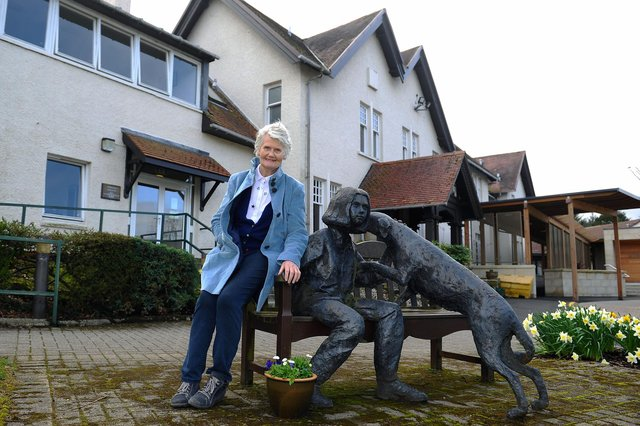 Molly Parsons holds many fond memories of Strathcarron Hospice, having worked at the facility for more than 20 years. Picture: Michael Gillen.