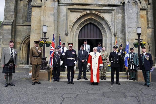 Larbert Old Church service of commemoration for HRH The Duke of Edinburgh.