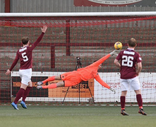 Former Hibs keeper Paddy Martin was impressive during a loan spell with Stenhousemuir last season (Pic: Dave Johnston)