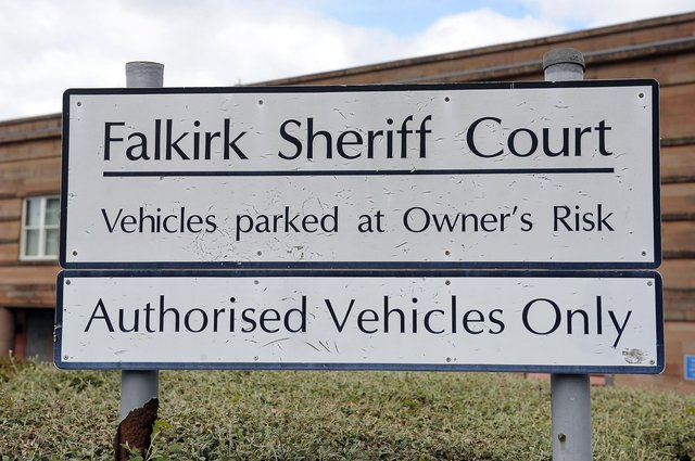 Scott appeared at Falkirk Sheriff Court last Thursday after he struck his partner on the head