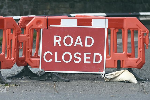 The closures will take place overnight next weekend