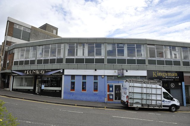 Falkirk High Street and Cockburn Street location is being considered for new Falkirk Council Headquarters and Arts Centre. (Pic: Michael Gillen)