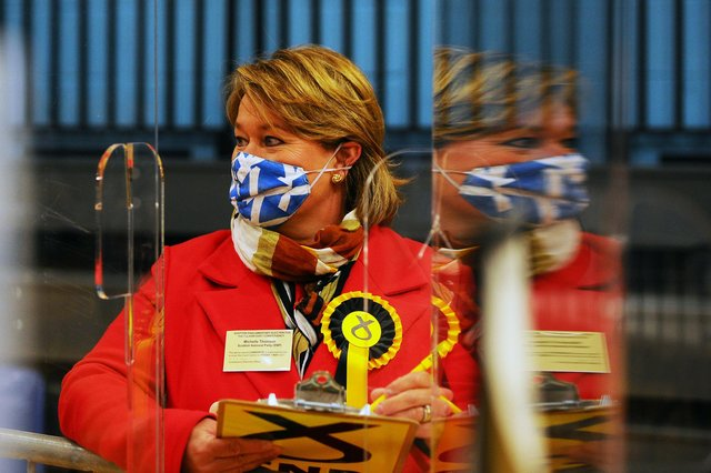 Michelle Thomson at the Falkirk East count (Pic: Michael Gillen)