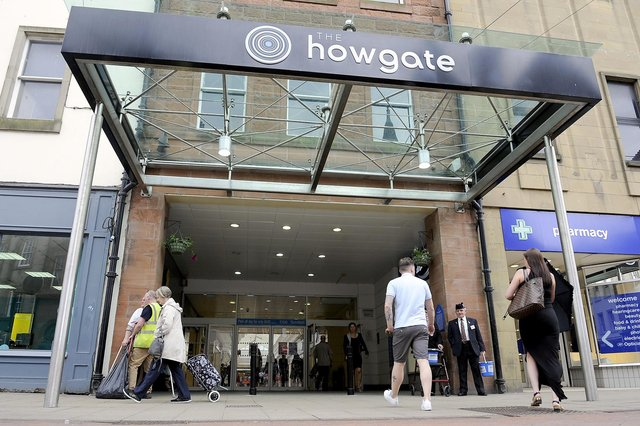 The Howgate Shopping Centre, Falkirk is among the venues getting ready to reopen next week. Picture: Michael Gillen.