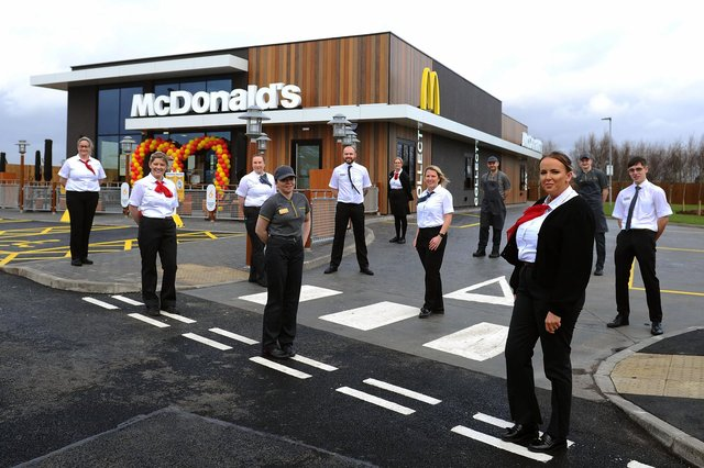 Meet the team at the district's newest McDonald' s (Pic: Michael Gillen)