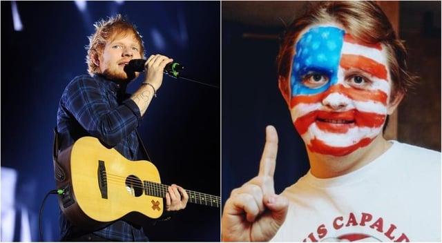 Left, Ed Sheeran, and right, Lewis Capaldi.